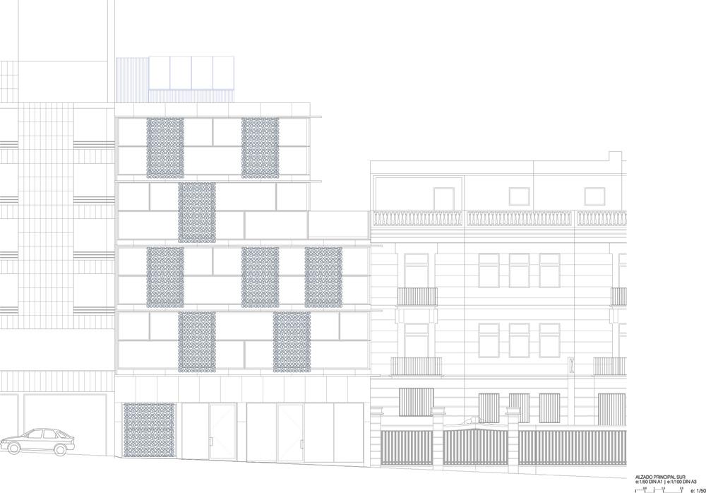 Vivienda-Colectiva, Edificio-Calle-Orfila, Abalos-Sentkiewicz, Arquitectura