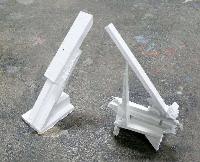 white sculptures 1 and 2