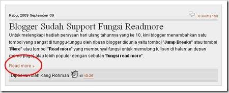 Modifikasi Tampilan Read more