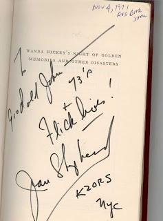 Shep's autograph