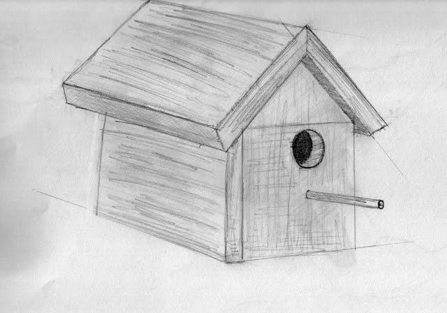 Le Blogue Des 100 Dessins 32 100 Une Cabane D Oiseau