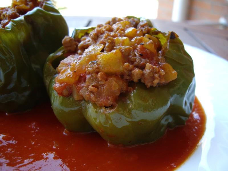 Mis recetas de cocina pimientos verdes rellenos de carne - Salsa para relleno de carne ...