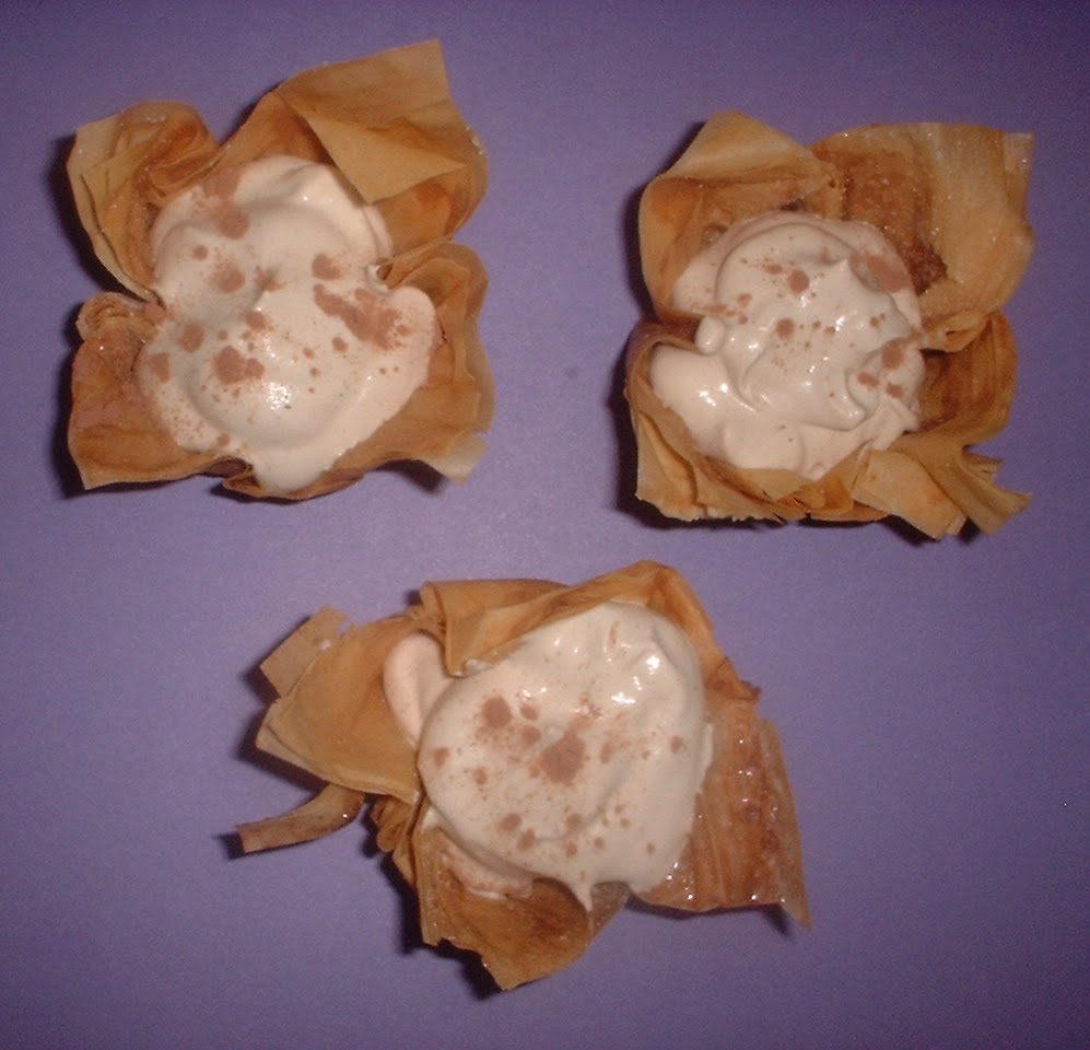 Phyllo Cups with Cappuccino Cream from Everyday Food Magazine, May ...