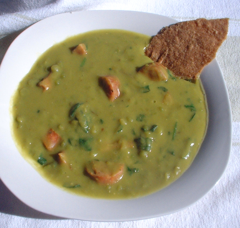 ... and spinach soup do have a lot of cornmeal spinach and cornmeal soup