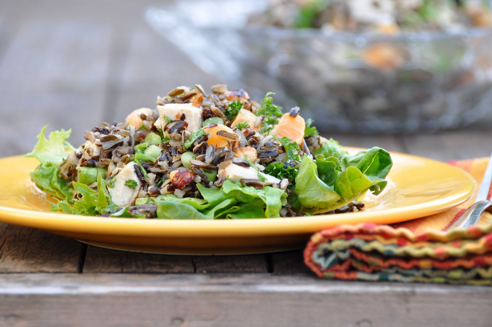 Chicken & Wild Rice Salad with Tangerines & Hazelnuts