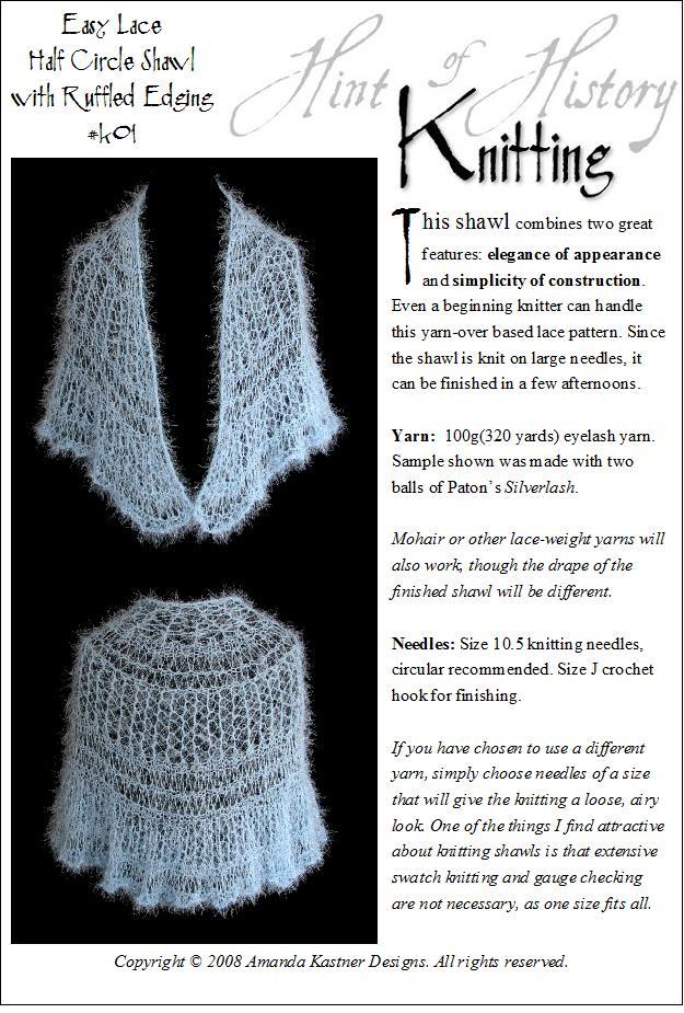 Half-circle shawl - Knitting Daily