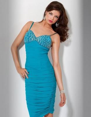 prom dress 2011. Blue Short Prom Dress 2011