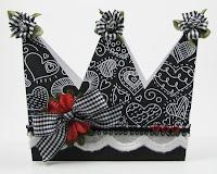 Tarjeta con forma de corona