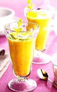 Receta Crema de mango