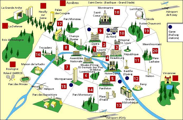 Visitar paris en 2 dias for Carte paris touristique