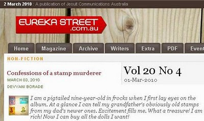 devyani borade - verbolatry - confessions of a stamp murderer - eureka street