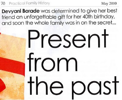 devyani borade - verbolatry - present from the past - practical family history