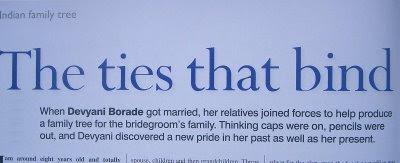 devyani borade - verbolatry - the ties that bind - family tree magazine