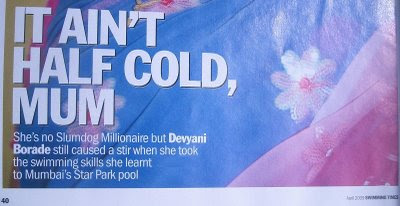devyani borade - verbolatry - it ain't half cold, mum - swimming times