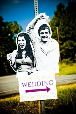 A wedding sign with personality - a rare thing.