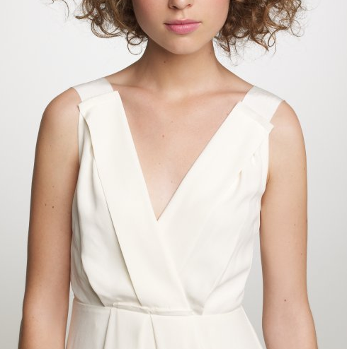 This JCrew wedding dress looks like something a Grecian statue would wear
