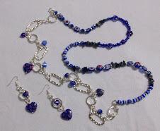 Collar étnico 2228 cristales en tonos azules