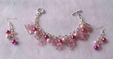 Pulsera Cod 2449 perlas y cristales rosa S/ 28.00 Nuevos Soles