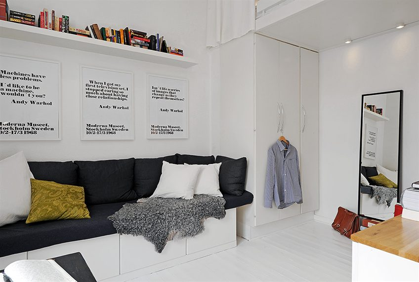 decoracao kitnet casal:Small Apartment Interior Design
