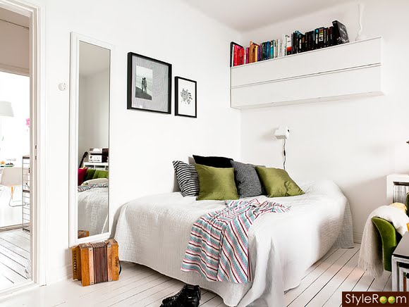 decoracao sala kitnet : decoracao sala kitnet:Blog Achados de Decoração: DECORAÇÃO KITNET BEM RESOLVIDA