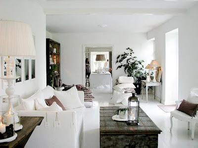 sala de estar branca
