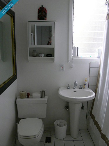 Blog Achados de Decoração  ANTES E DEPOIS SEXTAFEIRA É DIA DE TER IDÉIAS -> Fotos De Banheiro Bem Simples