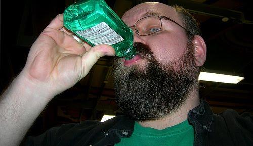 Drink mouthwash to get drunk