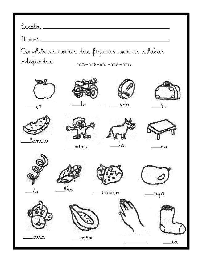 Amado Alegria de Aprender na Educação Infantil: ATIVIDADES COM A LETRA M  SA87