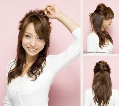 A very nice hairstyle for office girls! Layer your hair when you go to the