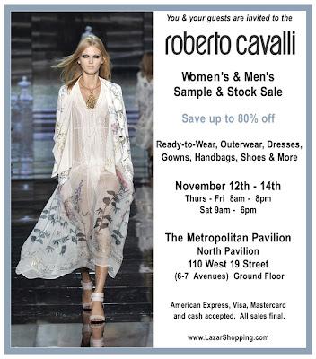 roberto cavalli sample sale new york city