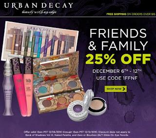 urban decay friends and family 2010