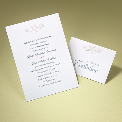 shell embossed invitations party invitations ideas With embossed shell wedding invitations