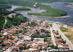 Cabrália panorâmica da cidade e rio João de Tiba