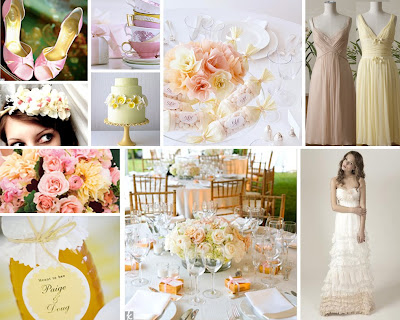 Pale Pink and Lemon Yellow Wedding