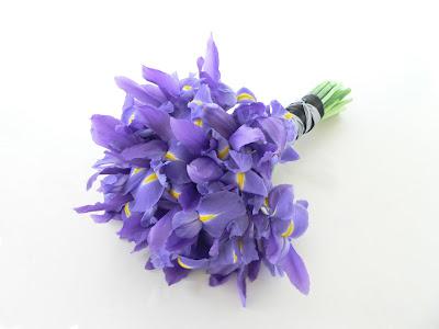 Iris wedding bouquet