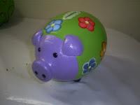 Cofre porquinho lilás