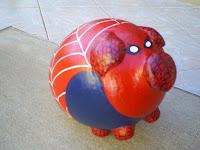 Cofre porquinho homem aranha