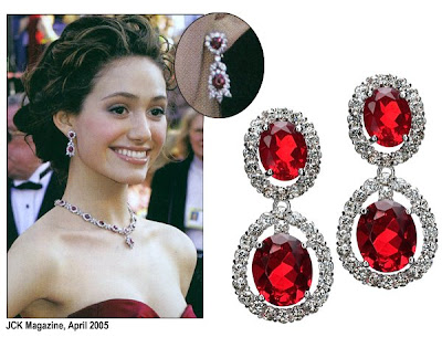 Red earrings pitures-1