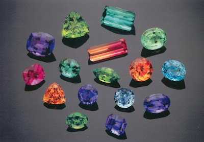 Clored gemstones