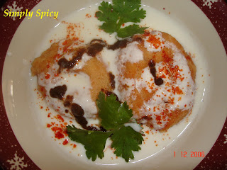 Dahi Vada - Lentil Dumplings in Yogurt