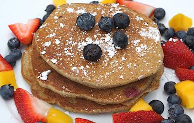 Recipe For Blueberry Buckwheat Pancakes Two Peas Their Pod