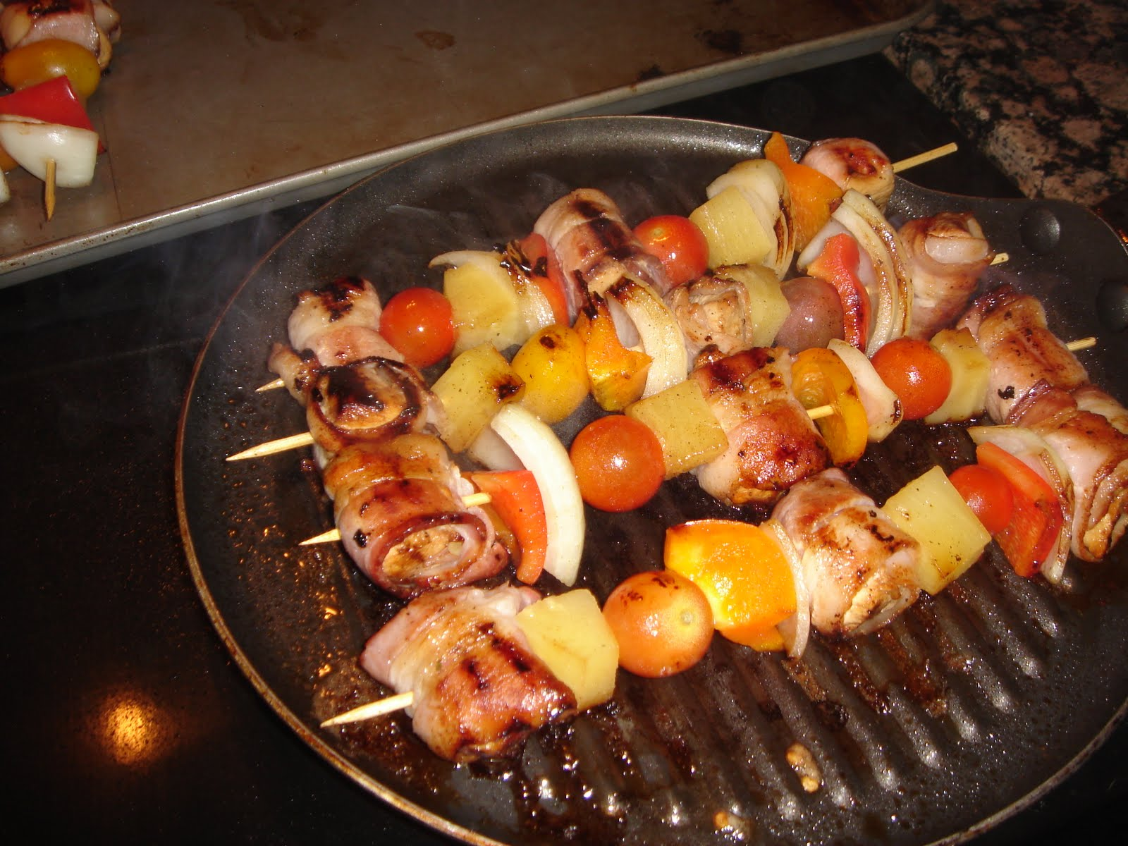 Peace, Love, and Baked Goods: Chicken and Bacon Shish Kabobs