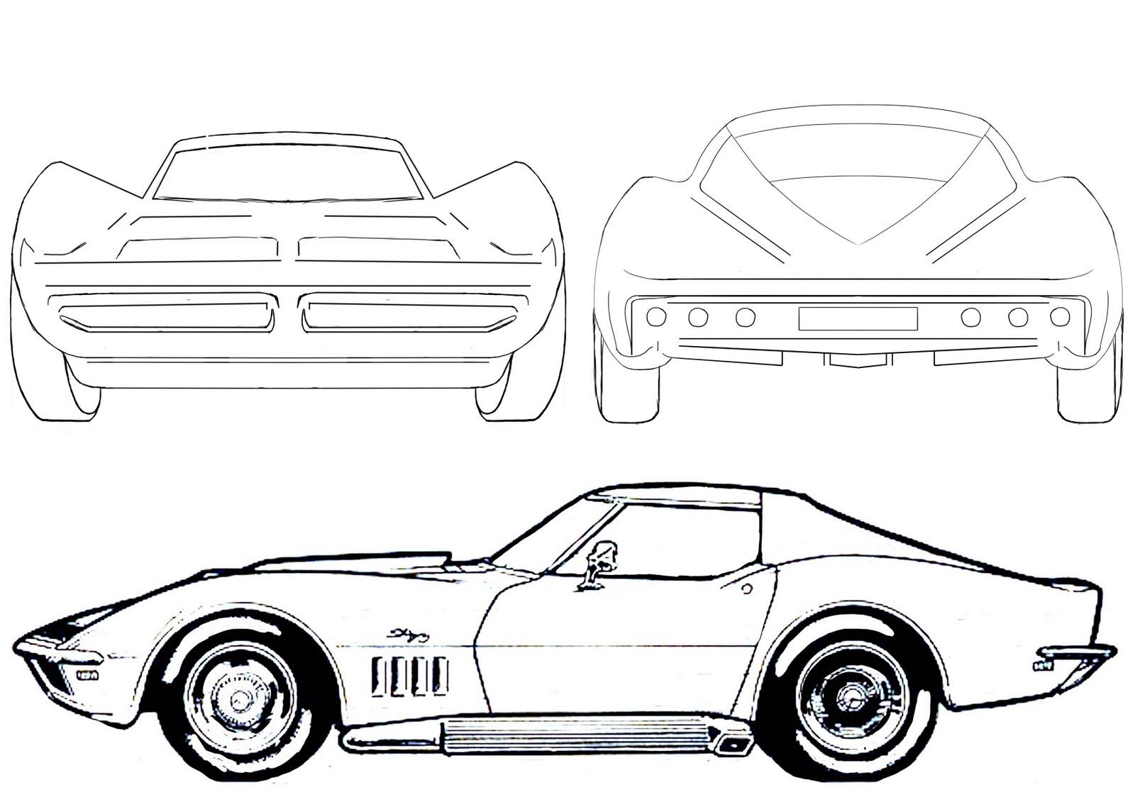 Cartoon car drawings