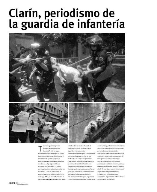 Clarín, periodismo de la guardia de infantería