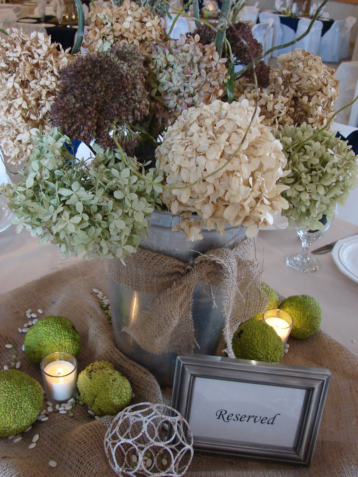 Cobblestone farms wedding table centerpieces quot country