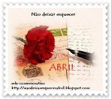 Selo Comemorativo - 25 de Abril- http://naodeixaresquecerabril.blogspot.com