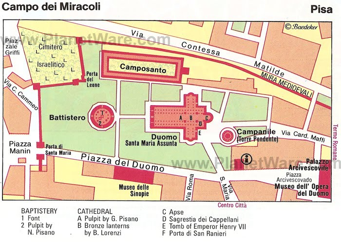 top tips for trip Lean Towards Pisa – Pisa Tourist Map