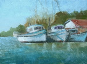 Karen F Rose My Painting Journey May River Boats - May river excursions