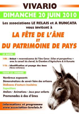 affiche fête de l'âne à vivario