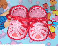 пинетки сандалики вязаные